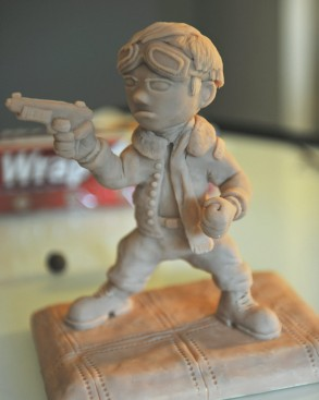 Sculpture of Action Jackson done with Super Sculpty.