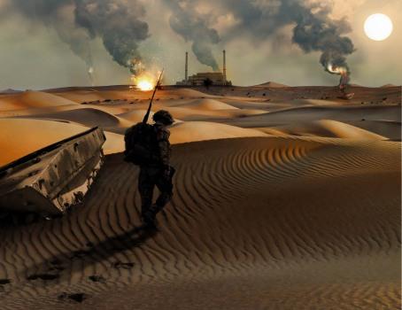 Desert Smoke (warm analogous)